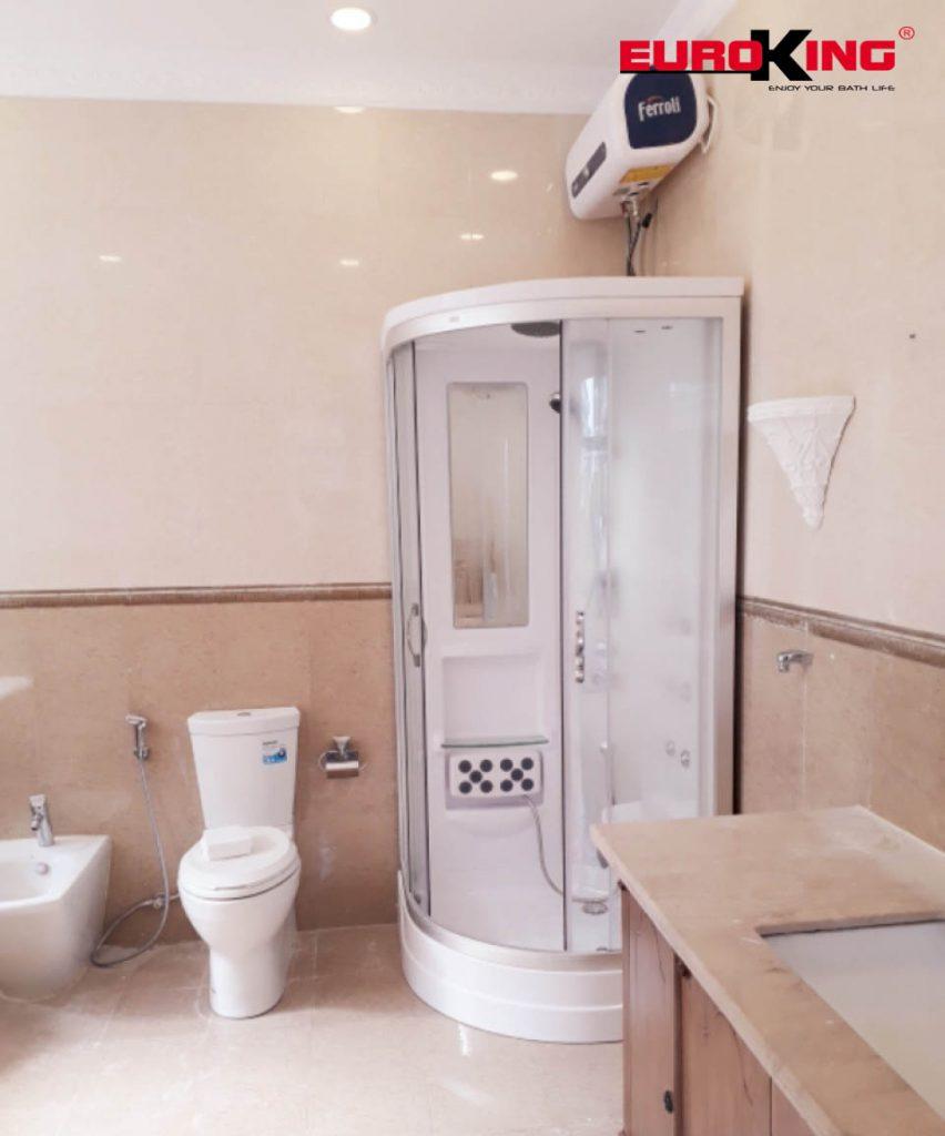 Phòng xông hơi EU-8603 thực tế tại nhà khách