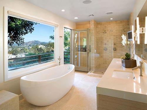 Bồn tắm độc lập Kawa giúp phòng tắm thêm phần sang trọng