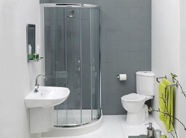 Phòng tắm vách kính thích hợp với phòng tắm với không gian nhỏ
