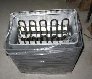 Các thanh điện trở đốt nóng đá trong máy xông hơi khô