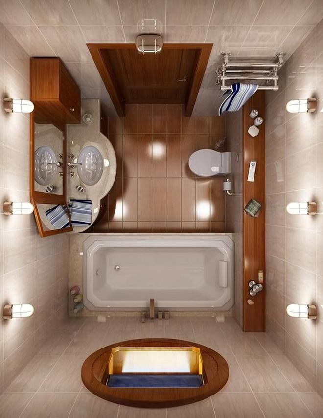 Không gian đặt bồn tắm cho không gian nhỏ