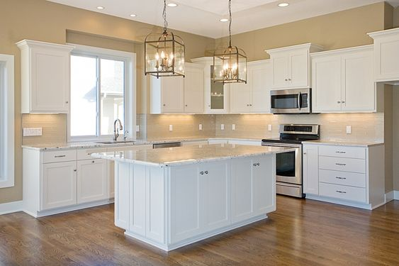 Tủ bếp gỗ sơn màu đẹp tham khảo