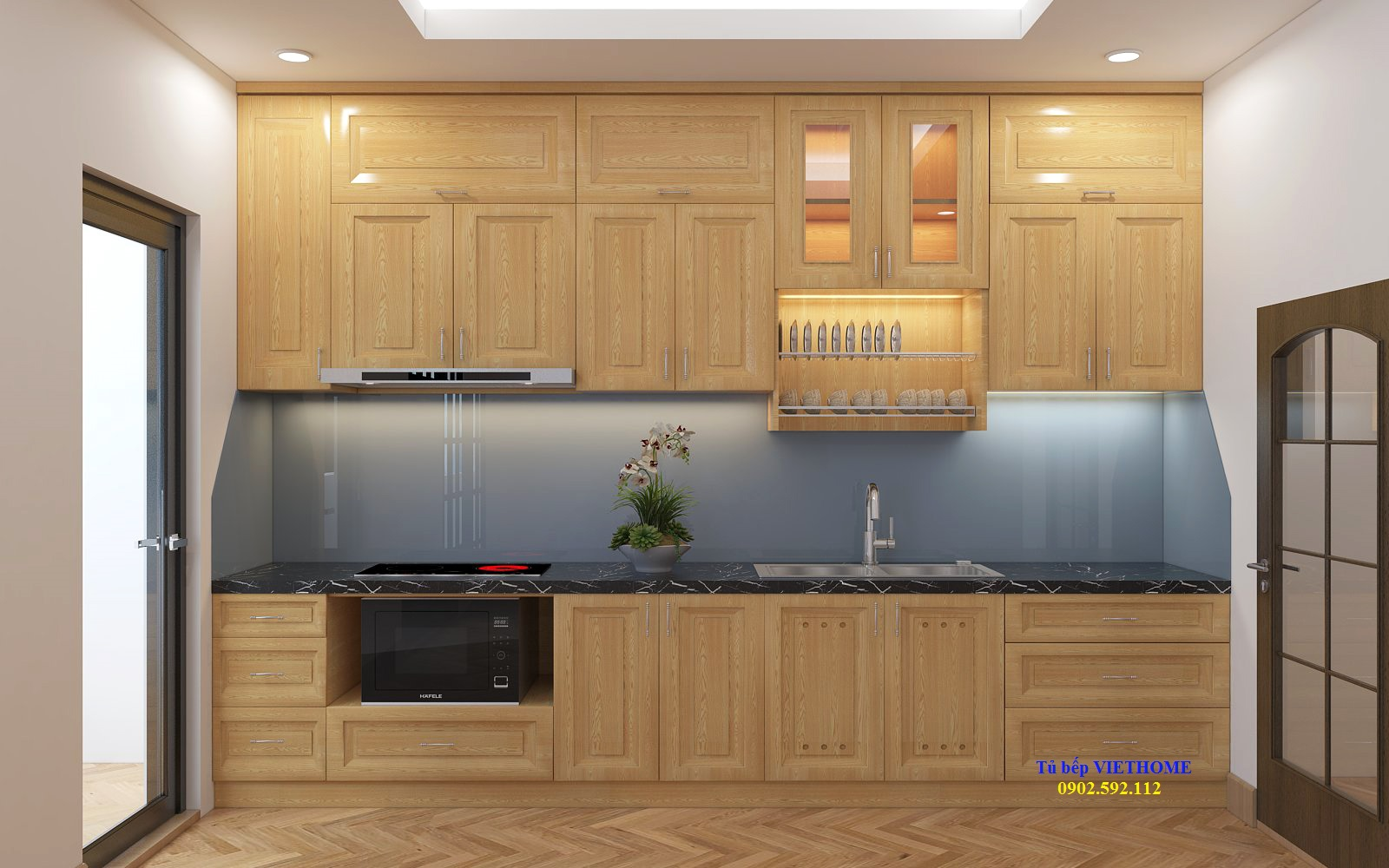 Tủ bếp gỗ tự nhiên khác gỗ công nghiệp như thế nào