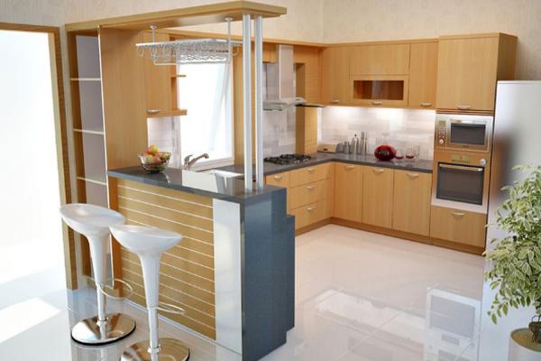 Mẫu tủ bếp đẹp gỗ Công nghiệp tham khảo