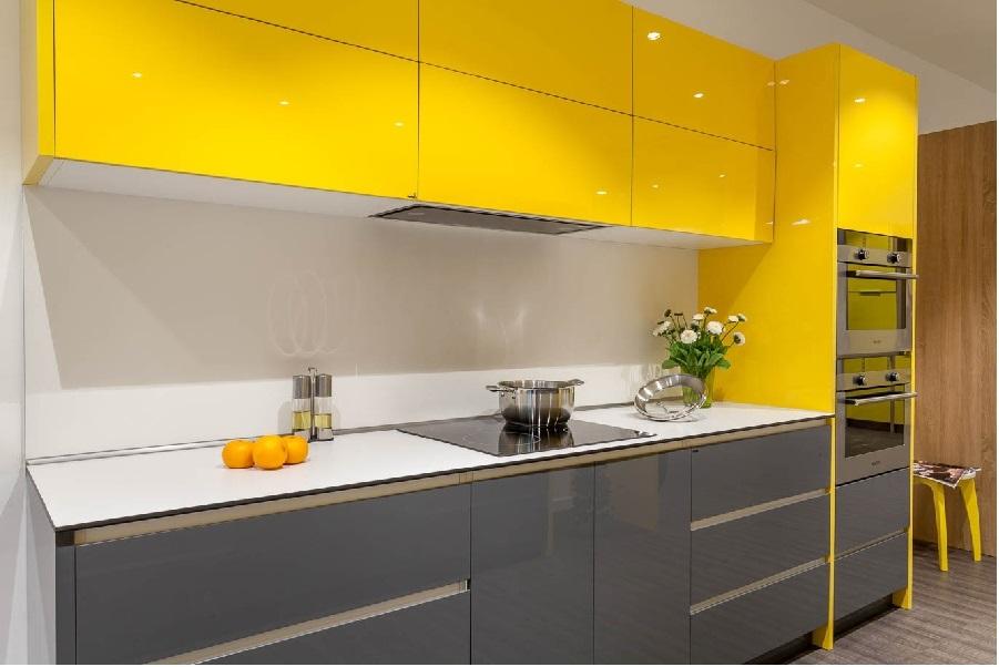 Tủ bếp đẹp gỗ Acrylic An Cường giá tốt nhất   Tủ bếp VIETHOME